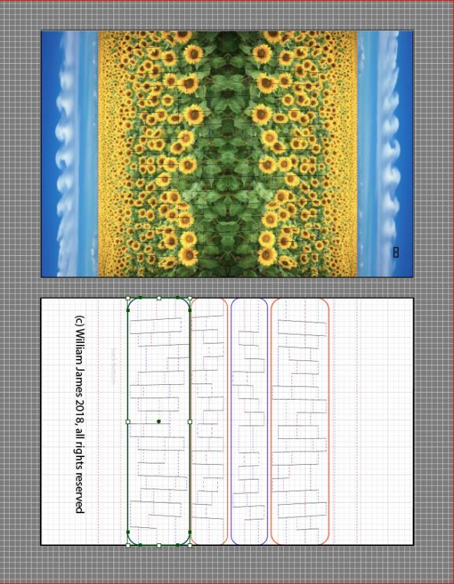 Sunflowers drawing board